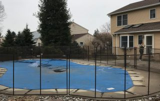 Inground Pool in Fence