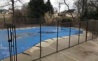 Covered Pool in Fence