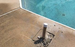 Incorrect Pool Pipe Sticking out of Concrete